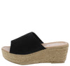 Melrose03 Black Open Toe Platform Espadrille Wedge - Wholesale Fashion Shoes