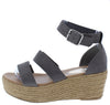 Melrose04 Grey Women's Wedge - Wholesale Fashion Shoes