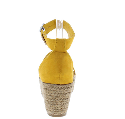 Melrose04 Yellow Women's Wedge - Wholesale Fashion Shoes