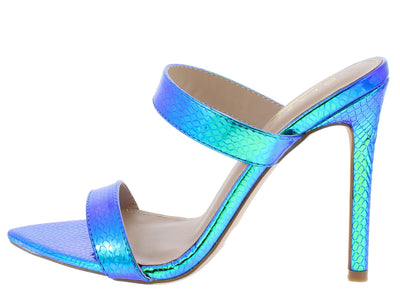 Mermaid2 Blue Women's Heel - Wholesale Fashion Shoes