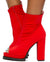 Naomi235 Orange Peep Toe Pull On Lug Boot