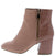 Moody03 Desert Rose Faux Croc Angled Heel Ankle Boot