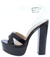 Natale2 Black Women's Heel - Wholesale Fashion Shoes