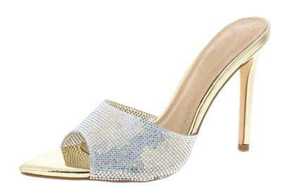 Geneva288 Gold Women's Heel - Wholesale Fashion Shoes