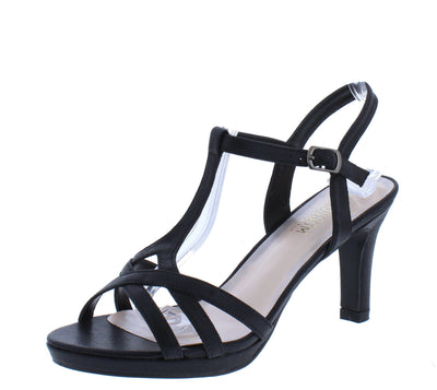 Nicole12 Black Women's Heel - Wholesale Fashion Shoes