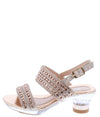 Nora1 Rose Gold Kids Low Heel