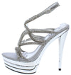 Mia285 Silver Women's Heel - Wholesale Fashion Shoes