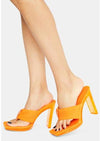 Poolparty Orange Women's Heel - Wholesale Fashion Shoes