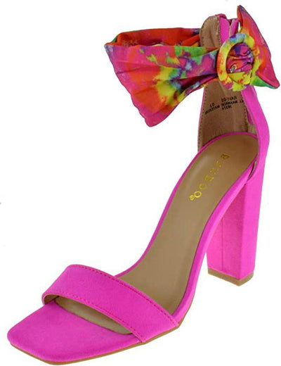 Rave05 Hot Pink Women's Heel - Wholesale Fashion Shoes