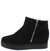 Rise10 Black Faux Fur Lined Side Zip Ankle Boot