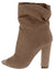 Alicia002 Taupe Peep Toe Block Heel Ankle Boot