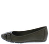Serious01w Olive Dual Buckle Wide Width Ballet Flat - Wholesale Fashion Shoes