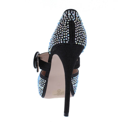 Victoria060 Black Women's Heel - Wholesale Fashion Shoes