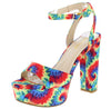 Shocking18 Yellow Tie Dye Women's Heel - Wholesale Fashion Shoes