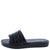 Sidekick06 Black Quilted Open Toe Slide Sandal