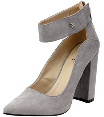 SIGNAL15 LIGHT GREY WOMEN'S HEEL - Wholesale Fashion Shoes - 4