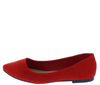 Special11w Red Women's Wide Width Comfort Flat - Wholesale Fashion Shoes