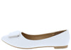 Stella54 White Women's Flat - Wholesale Fashion Shoes