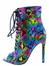 Janet111 Multi Snake Women's Boot - Wholesale Fashion Shoes