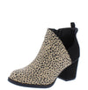 Valentina5 Black Cheetah Chunky Heel Ankle Boot - Wholesale Fashion Shoes