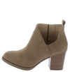 Valentina5 Taupe Chunky Heel Ankle Boot - Wholesale Fashion Shoes