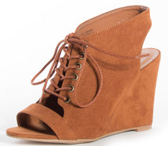 WINCHELL03S CHESTNUT WOMEN'S WEDGE - Wholesale Fashion Shoes - 2