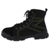 Wolf1 Black Stitched Lace Up Hiking Boot - Wholesale Fashion Shoes