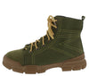 Wolf1 Green Stitched Lace Up Hiking Boot - Wholesale Fashion Shoes