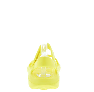 Zire Yellow Velcro Strappy Open Toe Flat Sandal - Wholesale Fashion Shoes