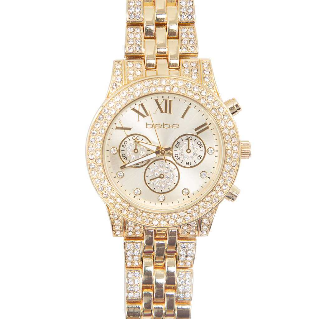 BEBE Gold Watch with Stones - BEB5483