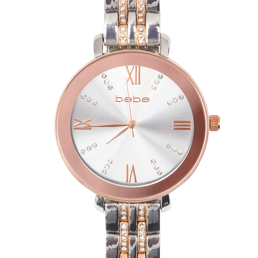 BEBE Silver & Rose Gold Watch - BEB5572