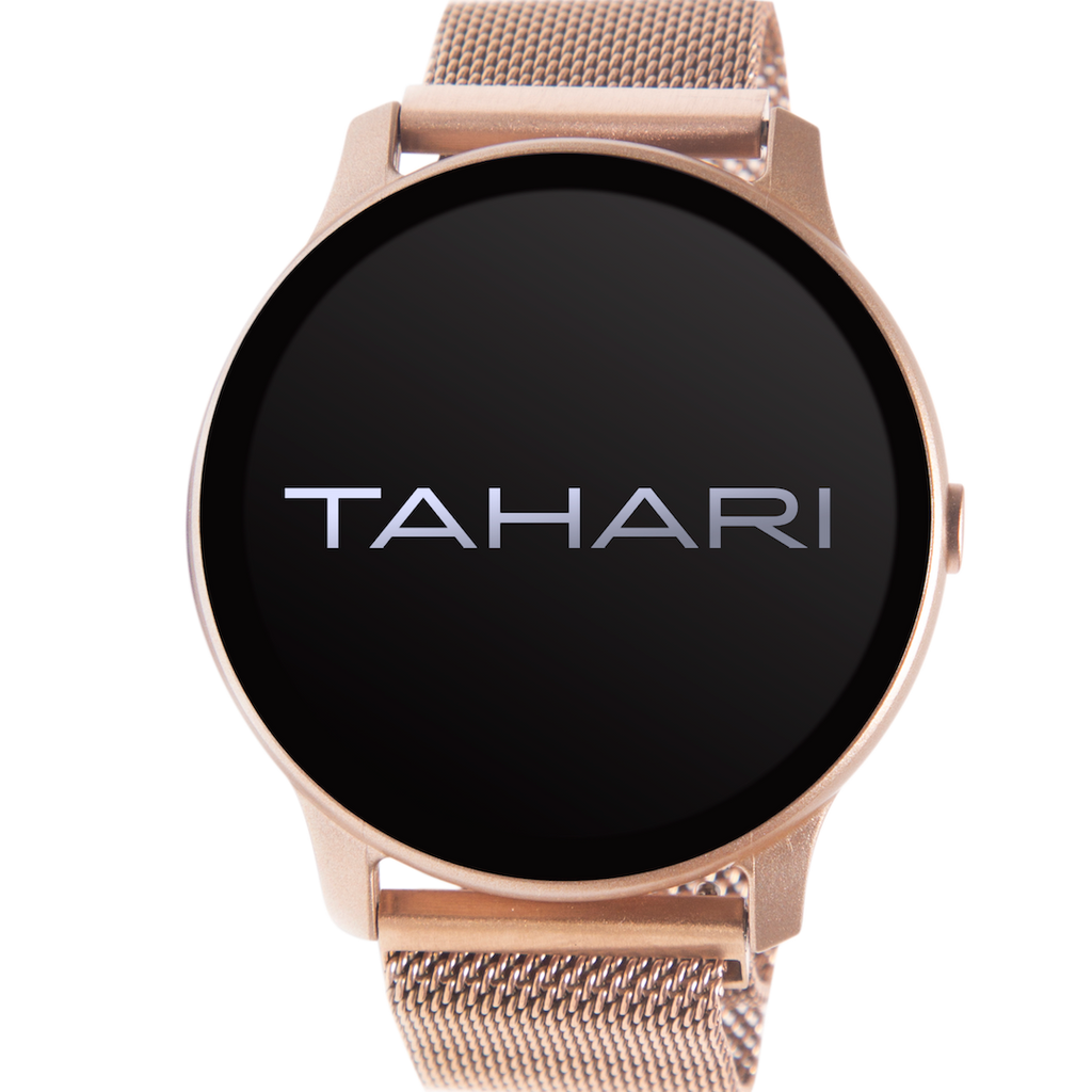Tahari Smartwatch- Rose Gold Case/Rose Gold Mesh Strap- TAH5390BU