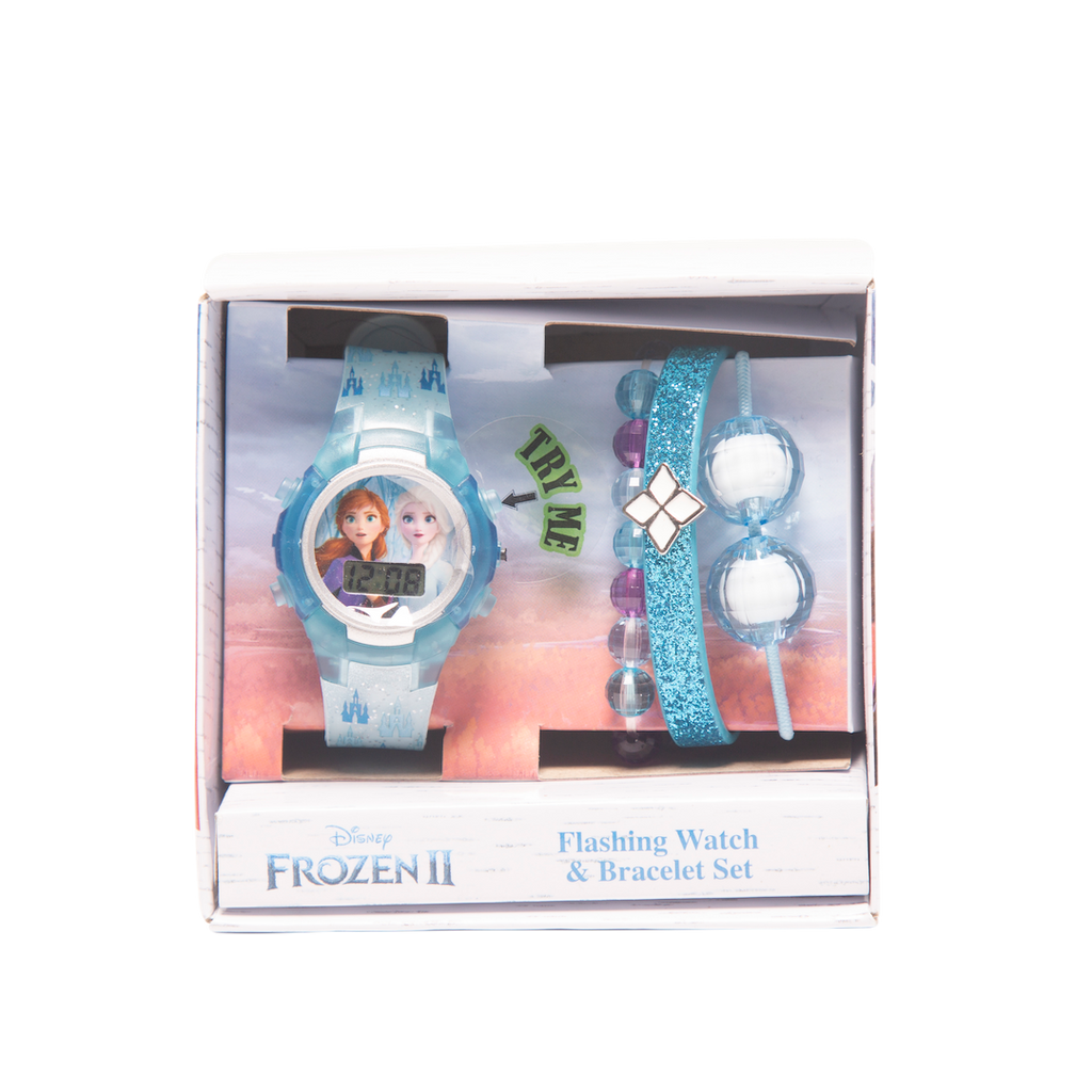 Frozen 2 Flashing Watch & Bracelet Set- FZN45007BU