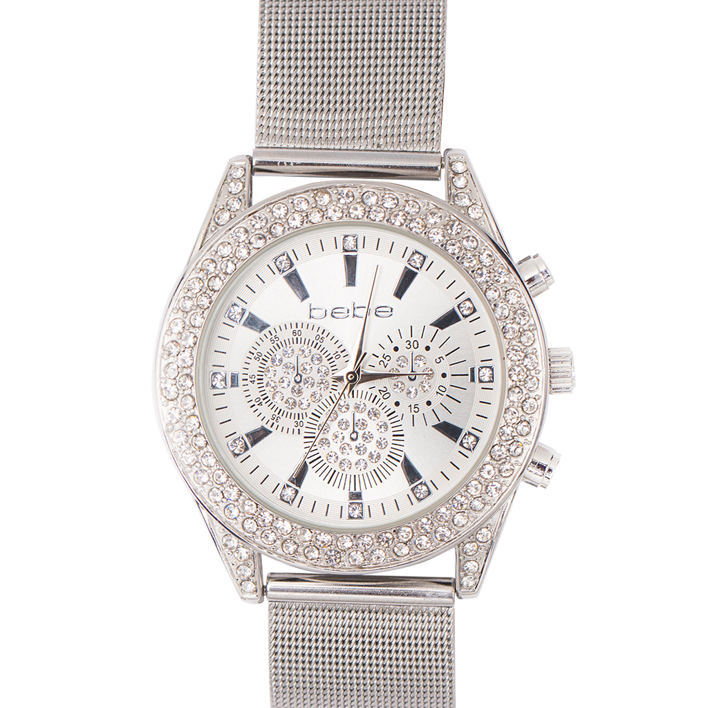 BEBE Silver Watch with Stones - BEB5430