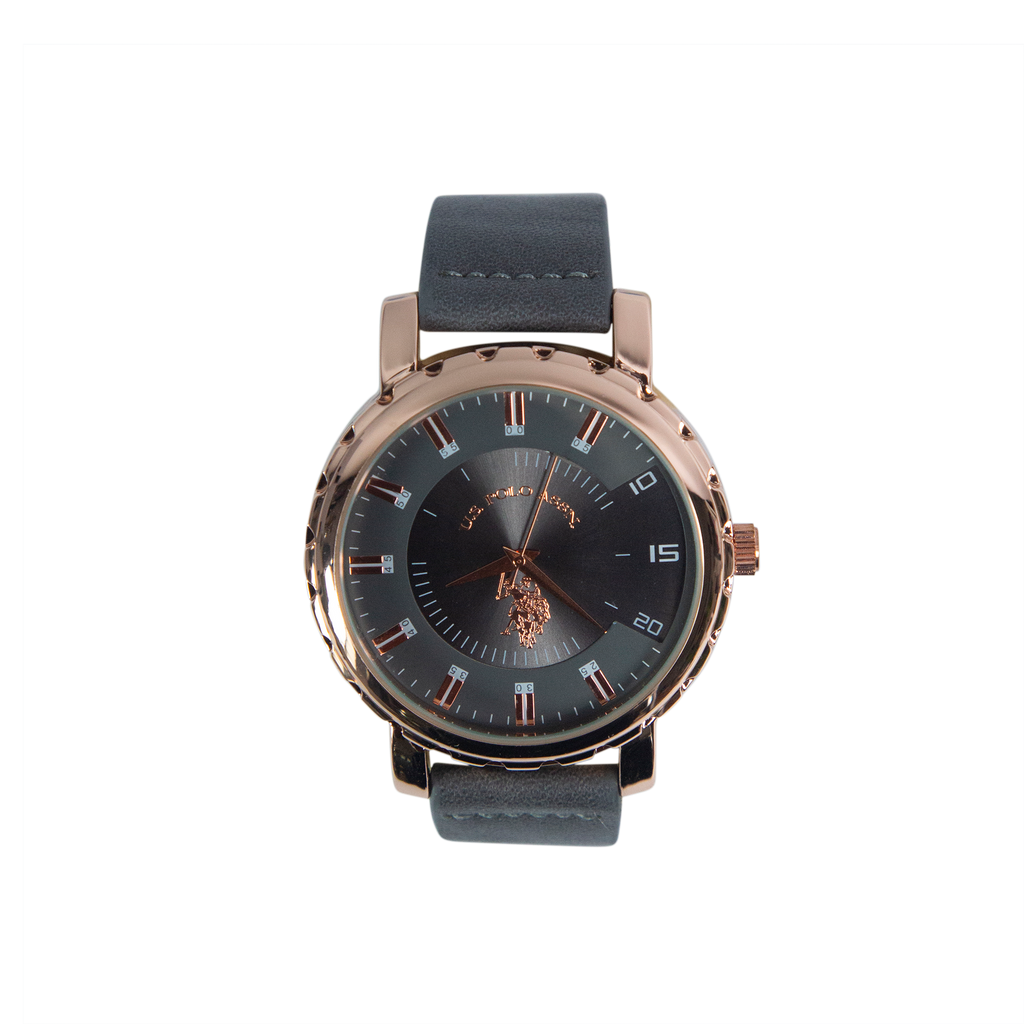 US Polo Watch in Black and Rose Gold – USC50540