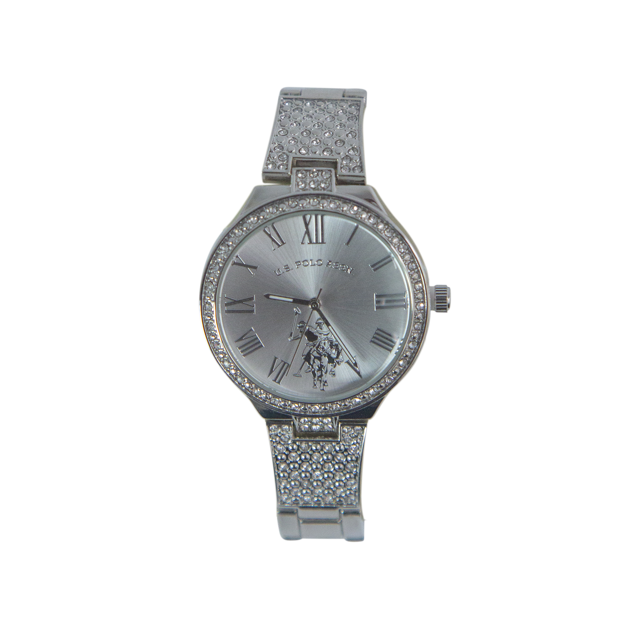US Polo Silver Watch with Crystal Accents – USC40322