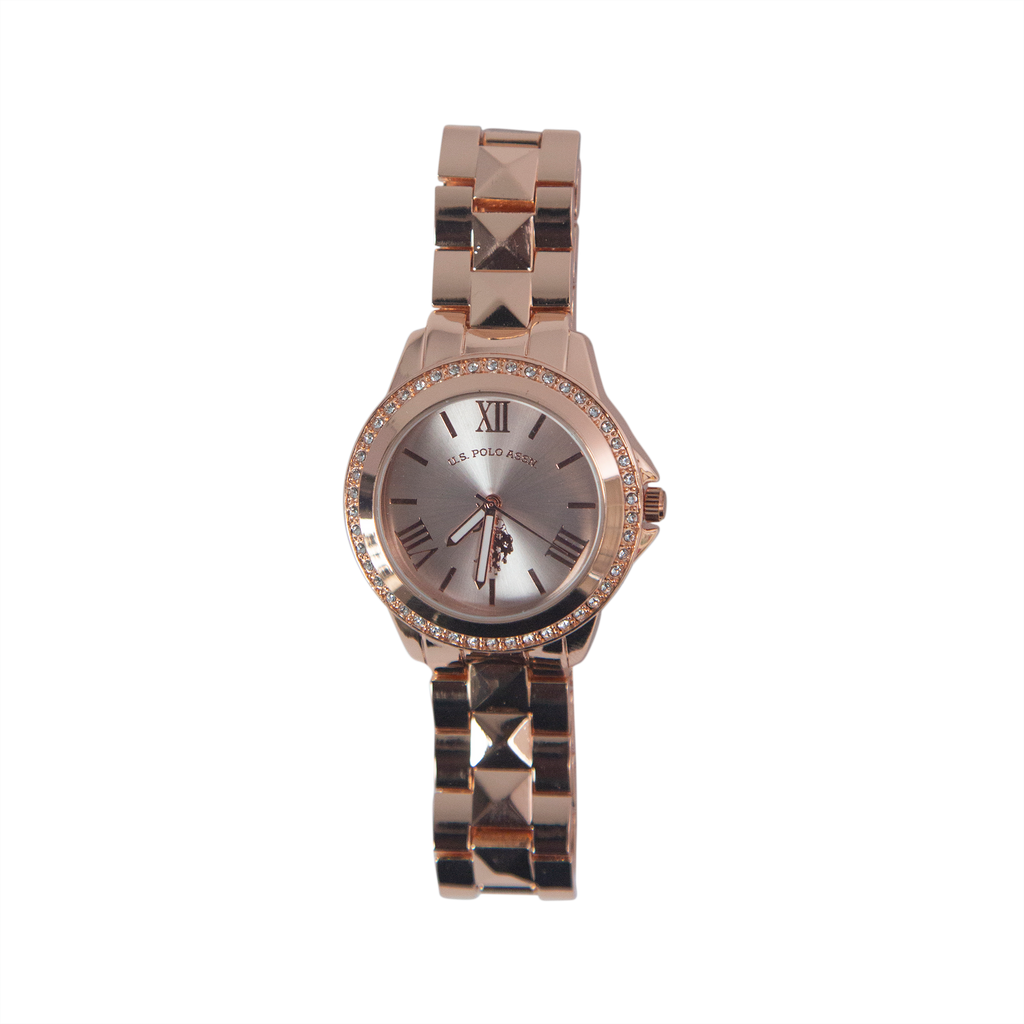 US Polo Rose Gold Watch with Crystal Accents – USC40078