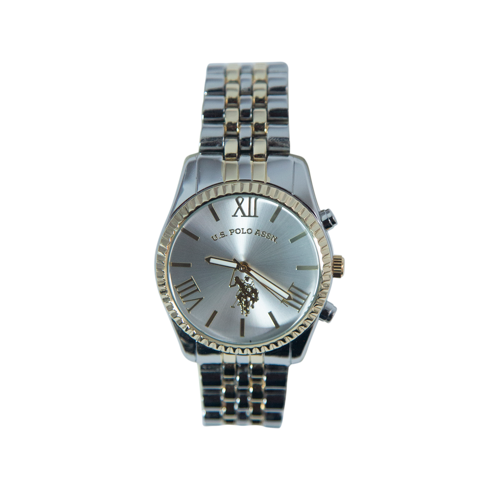 US Polo Dual Tone Watch in Silver and Gold – USC40057