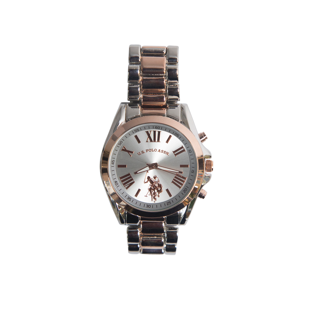 US Polo Rose Gold and Silver Watch – USC40118