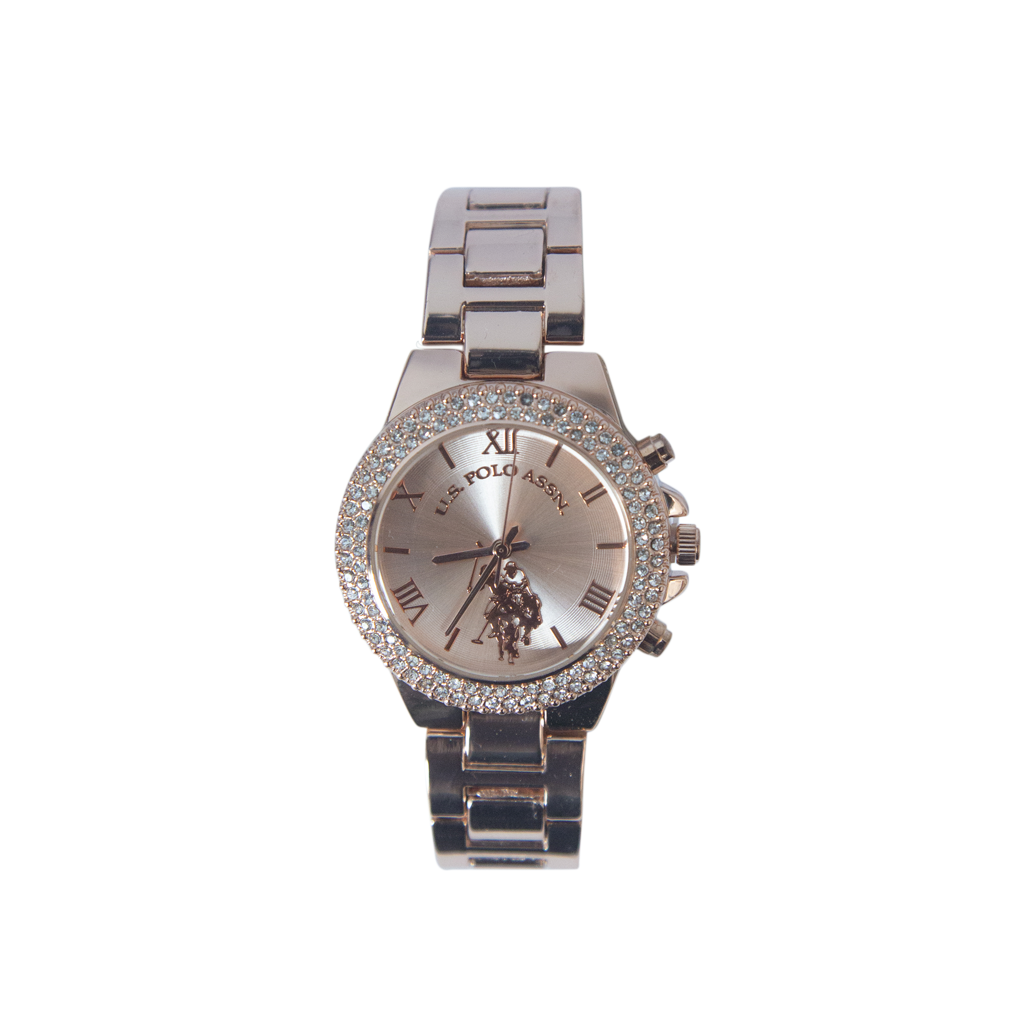 US Polo Rose Gold Watch with Crystal Accents – USC40028
