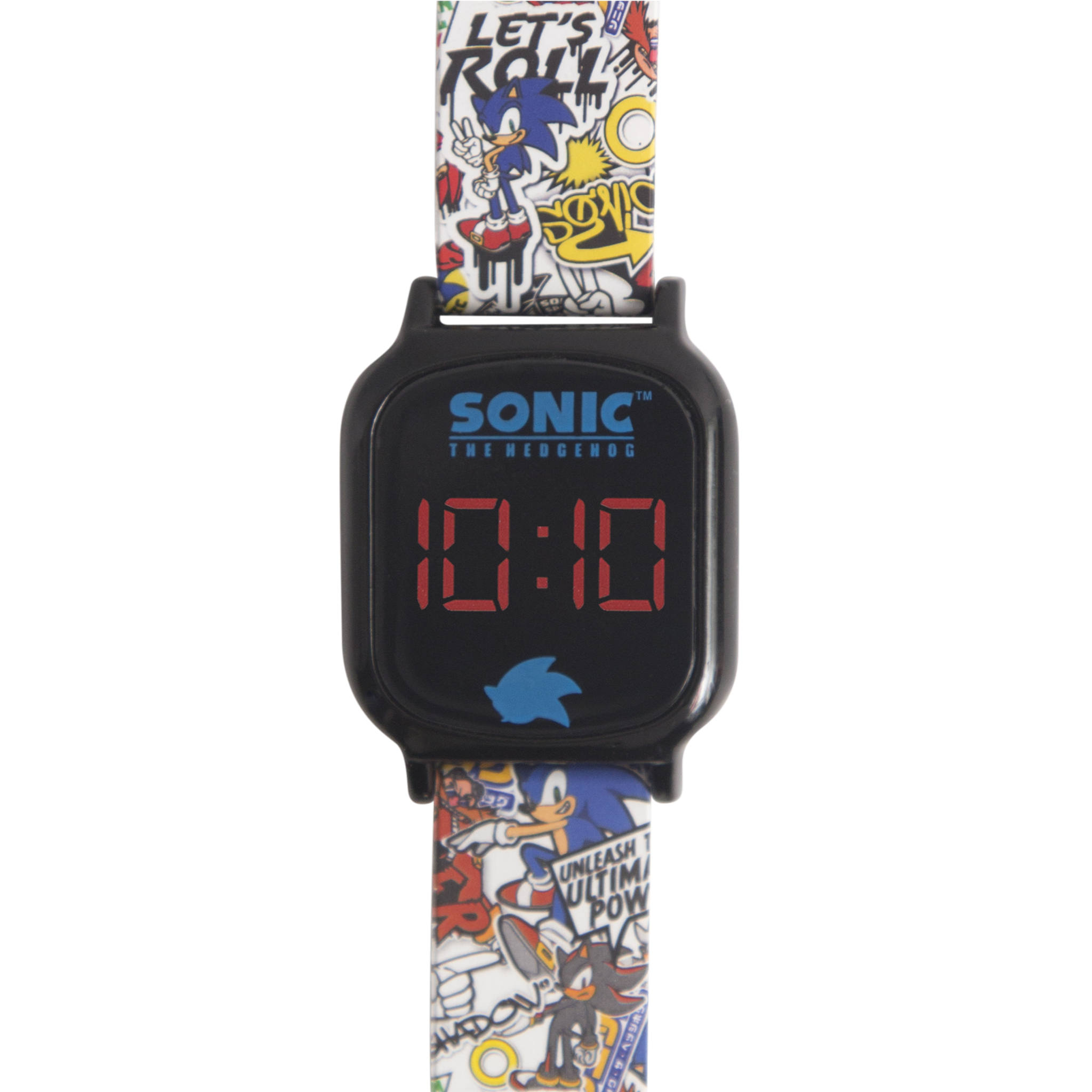 Sonic the Hedgehog Comic Strip LCD Watch (White) - SNC4079