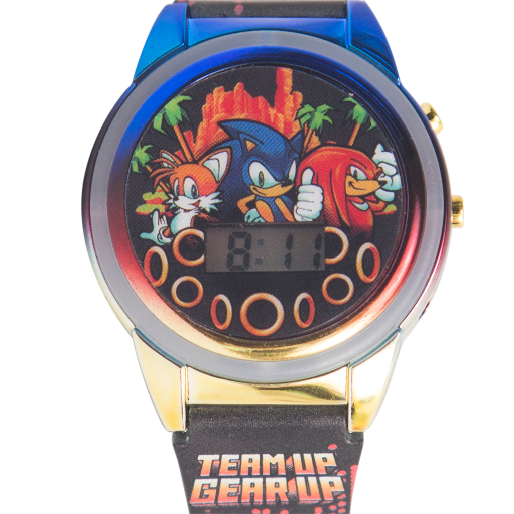 Sonic the Hedgehog Light Up Watch (Printed Band) - SNC 4088