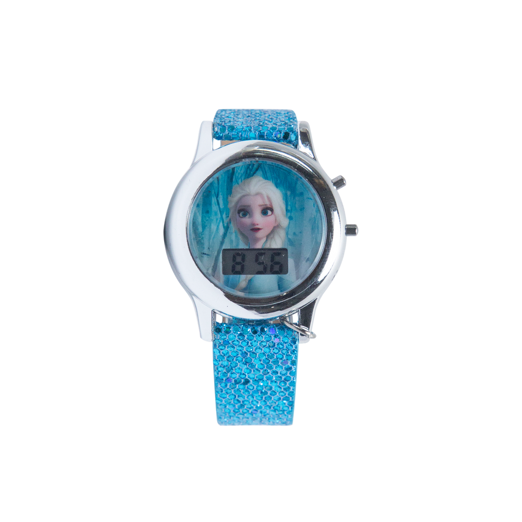 Frozen II Elsa Watch with Blue Glitter Strap - FZN4508