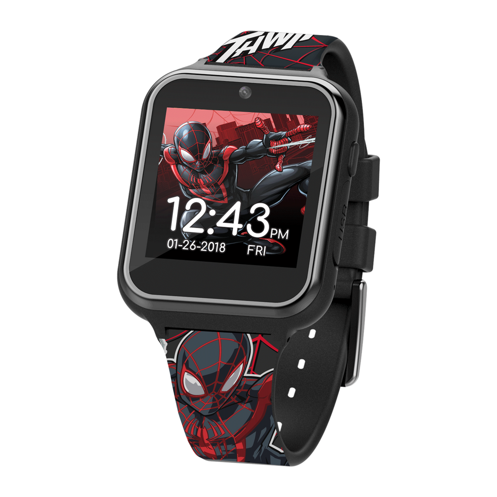 Official Spiderman Kid's Touch-Screen Smart Watch (Black) - SPD4664