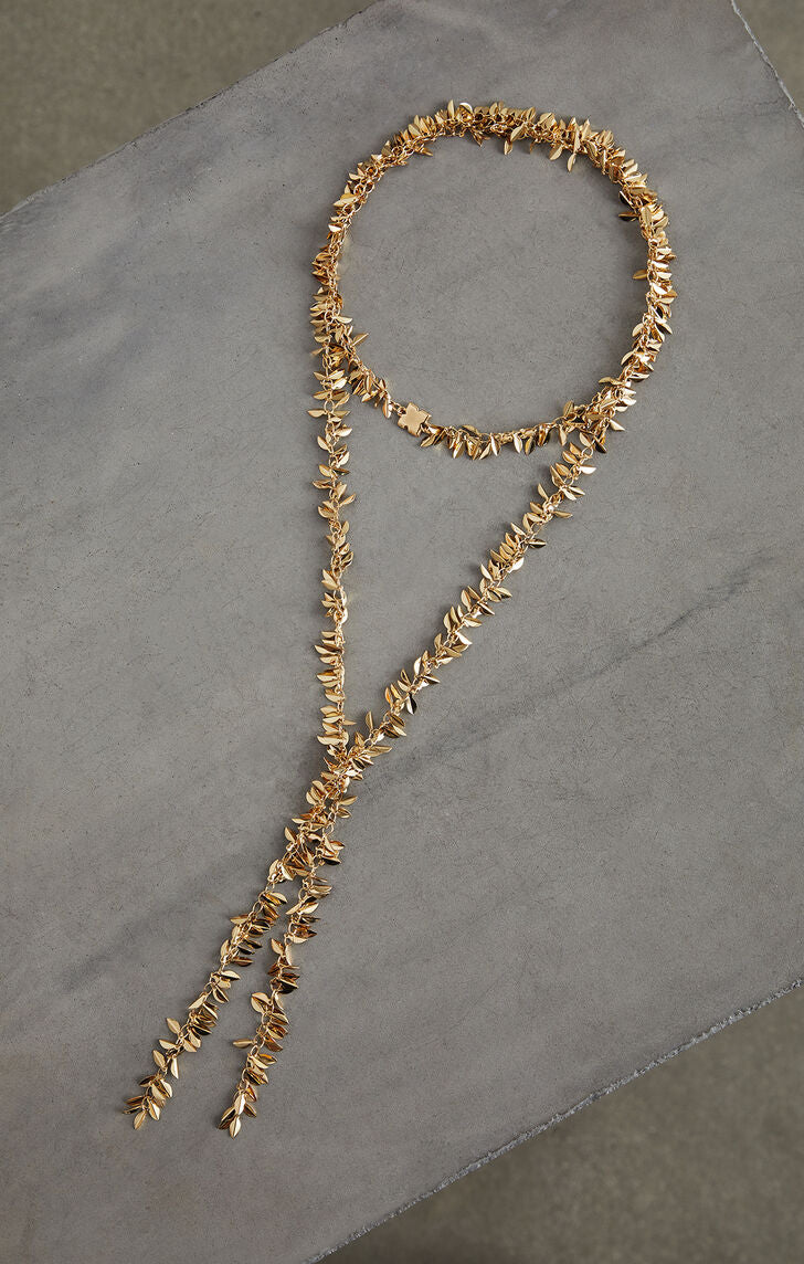 Lariat Leaf Necklace BCBG