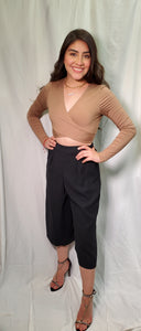 Mocha Wrap Crop Top