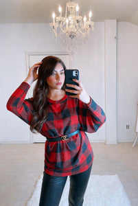 Plaid Pattern Classic Top