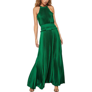 Satin High Neck Dress