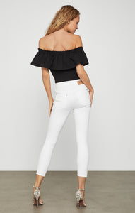 Off-Shoulder Ruffle Bodysuit
