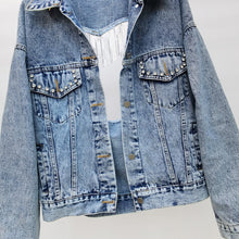 Load image into Gallery viewer, Heart & Glitter Jean Jacket